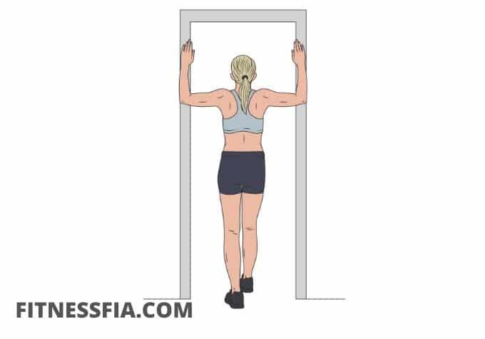 Stretching i dörröppningen