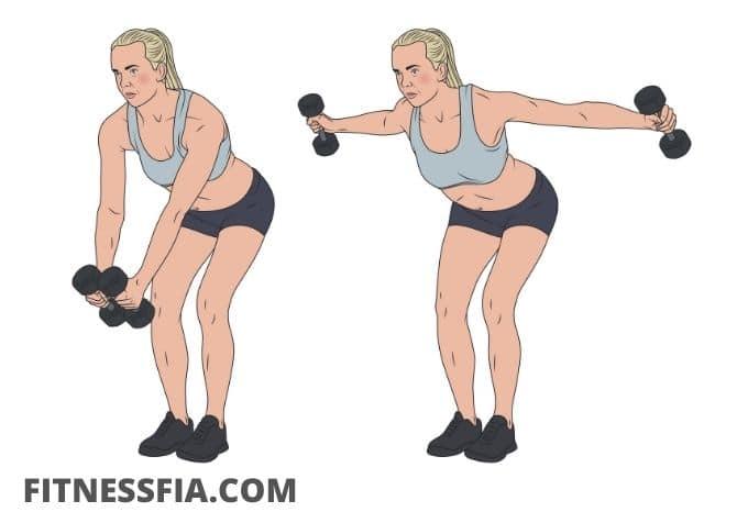 Omvända flyes axelpass gym