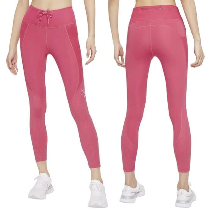 rosa träningstights nike hög midja löpning