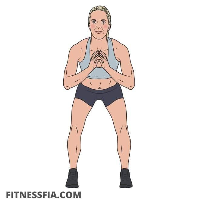 Halv benböj - halv squat övning barn