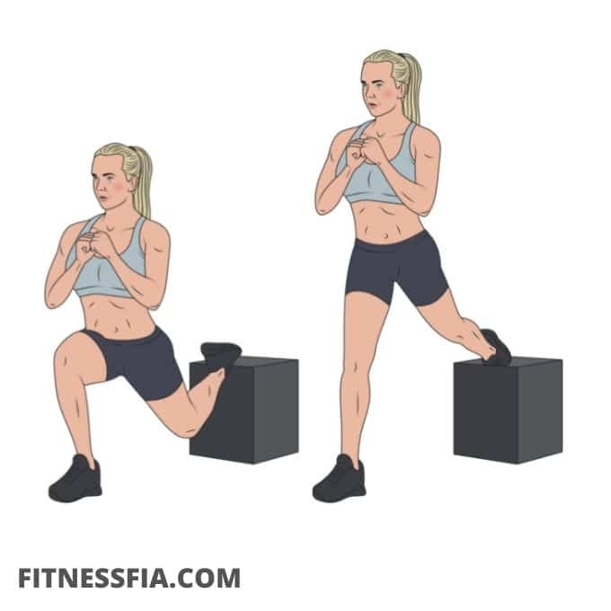 Bulgarian split squats med hopp