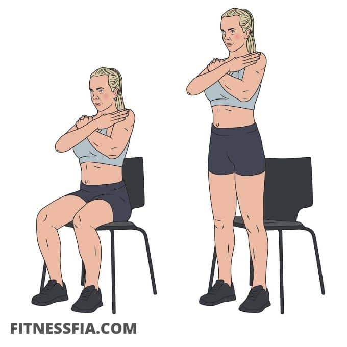 Resa sig upp från stolen övningar barn träning