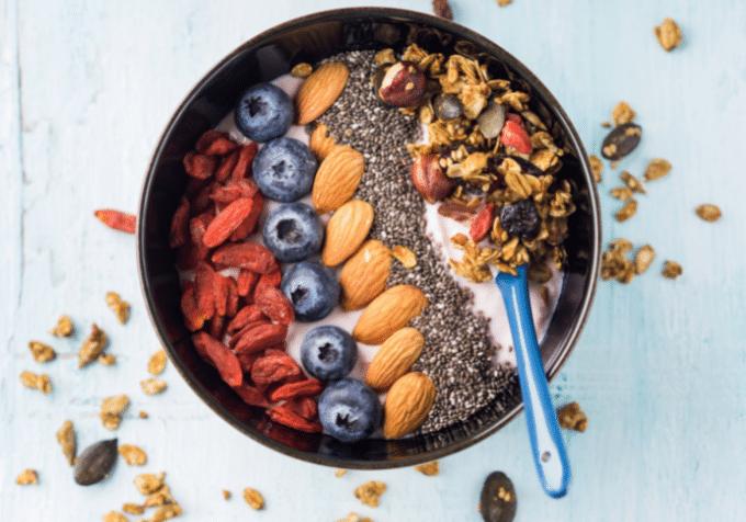 bästa kvällsmålet träning yoghurt kvarg bowl