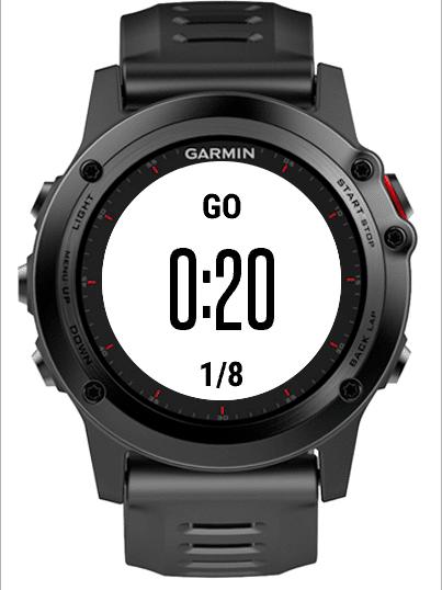 tabata timer garmin watch